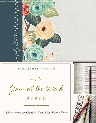 KJV Journal the Word Bible (Green Floral Cloth Over Board)