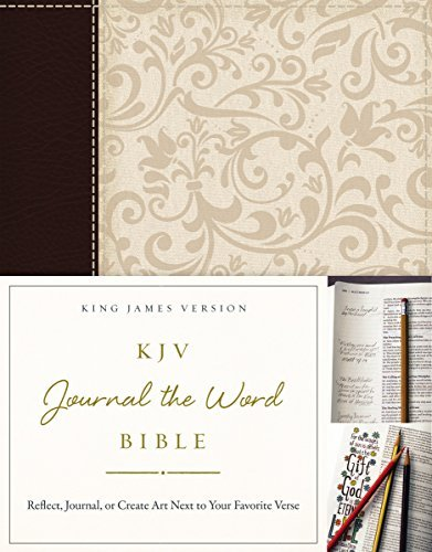 KJV Journal the Word Bible (Brown/Cream Leathersoft)
