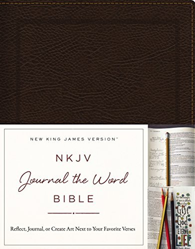 NKJV Journal the Word Bible (Brown Bonded Leather)