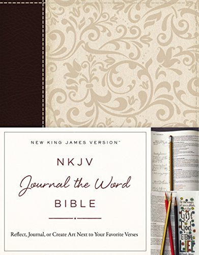NKJV Journal the Word Bible (Brown/Cream Imitation Leather)
