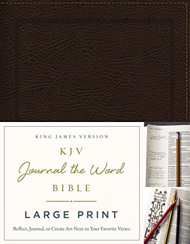 KJV Journal the Word Bible (Large Print, Brown Bonded Leather)