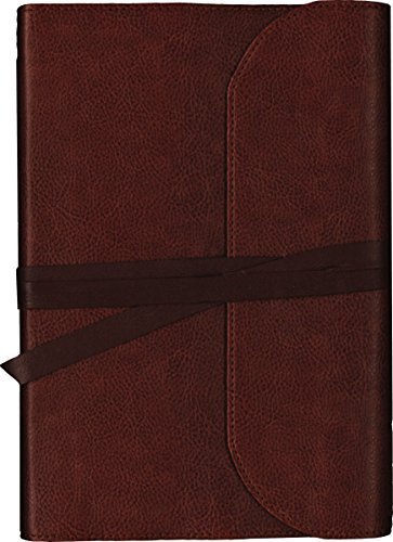 KJV, Journal the Word Bible (Large Print, Brown Leather)