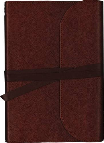 NKJV Journal the Word Bible (Premium Brown Leather)