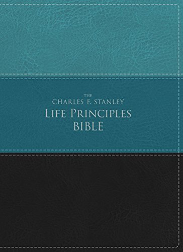 NIV The Charles F. Stanley Life Principles Bible (Green/Black Leathersoft)