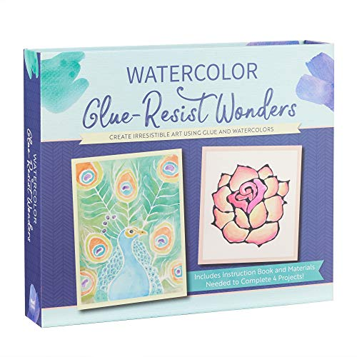 Watercolor Glue-Resist Wonders: Create Irresistible Art Using Glue and Watercolors