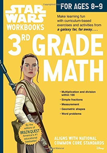 3rd Grade Math Star Wars Workbook (Ages 8-9)