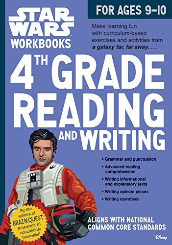 4th Grade Reading and Writing Star Wars Workbook (Ages 9-10)