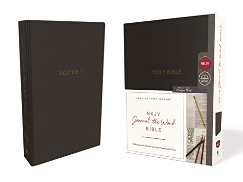 NKJV Journal the Word Bible (8583BK - Black Leathersoft)