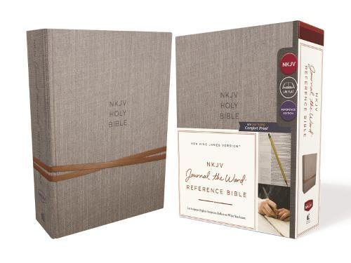 NKJV Journal the Word Reference Bible (Gray Cloth Over Board)