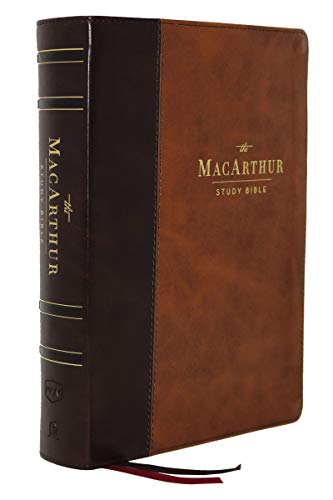 The NKJV, MacArthur Study Bible, 2nd Edition (#3663BRN - Brown Leathersoft)