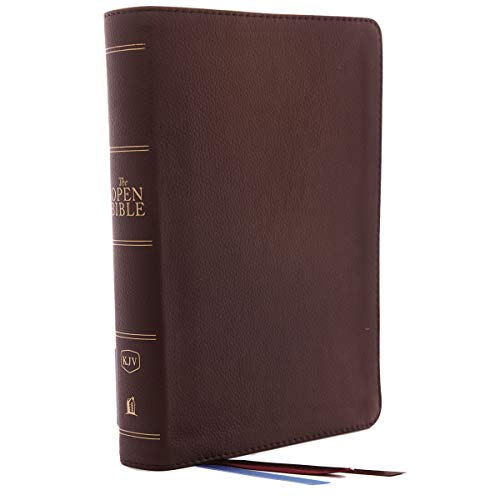 KJV Comfort Print, The Open Bible Complete Reference System (6456BRN Brown Genuine Leather)