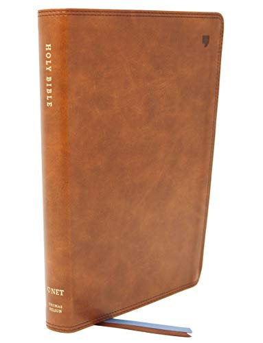NET Bible, Thinline, Comfort Print Holy Bible (#5693BR - British Tan Leathersoft)