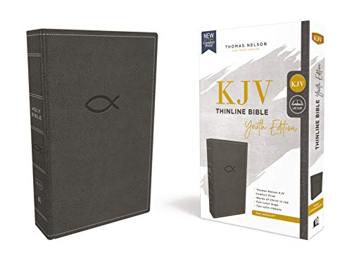 KJV Thinline Bible: Youth Edition (7193GRY, Gray Leathersoft)