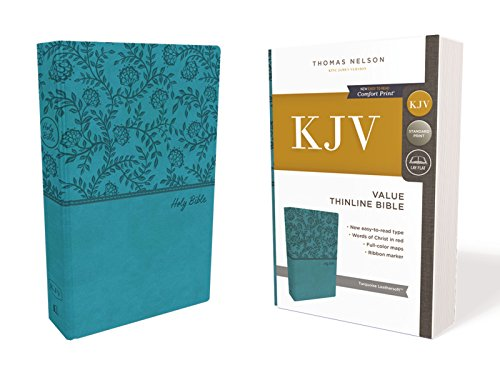 KJV Value Thinline Bible (2023TQ, Turquoise Leathersoft)