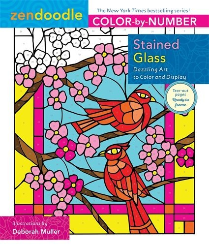 Stained Glass (Zendoodle Color-by-Number)