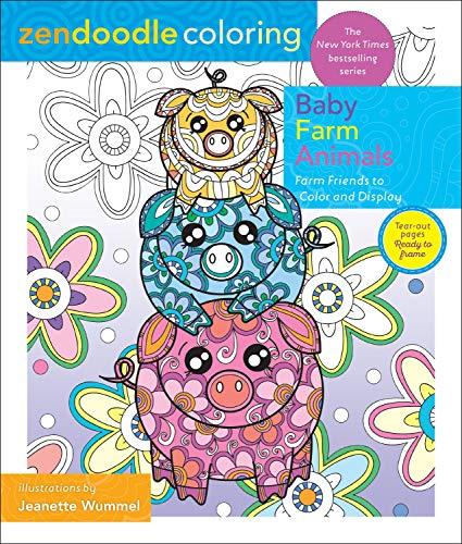 Baby Farm Animals: Barnyard Friends to Color and Display (Zendoodle Coloring)
