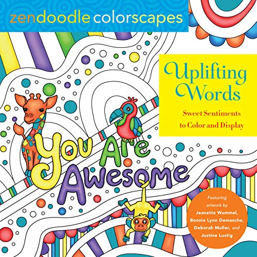 Uplifting Words: Zendoodle Colorscapes