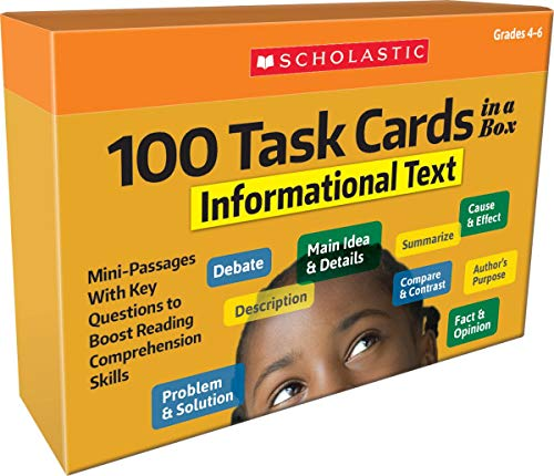 100 Task Cards: Informational Text