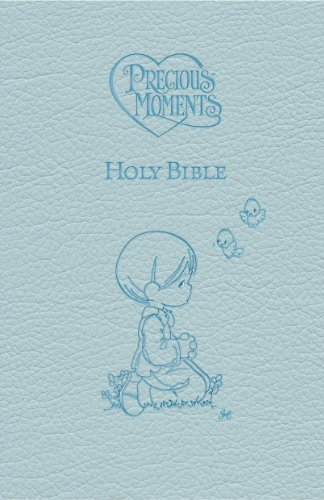ICB Precious Moments Holy Bible  (Blue Leathersoft)