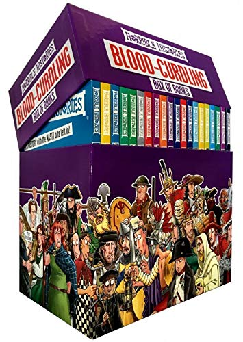 Horrible Histories Blood-Curdling Box of Books (20 Book Box Set)