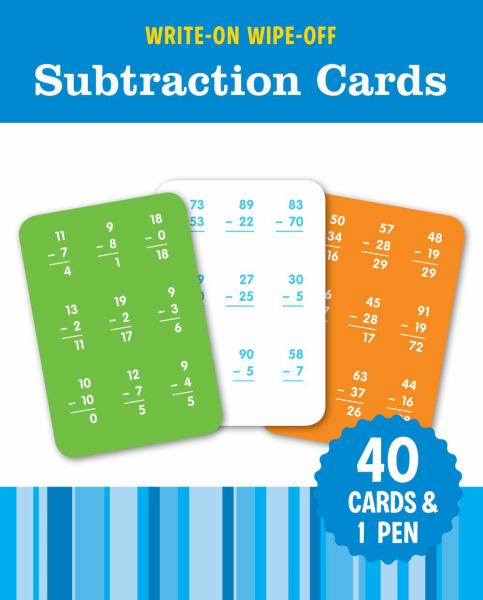 Subtraction Cards (Write-On Wipe-Off, FlashKids)
