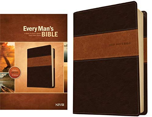 NIV Every Man's Bible, Deluxe Heritage Edition (Brown & Tan Imitation Leather)