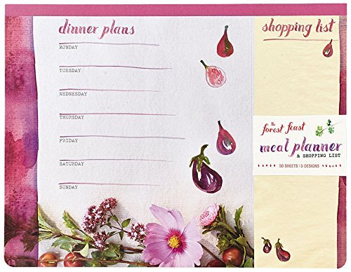 The Forest Feast Meal Planner and Shopping List: Magnetic Notepad, 50 Sheets, 5 Designs