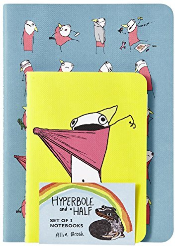 Hyperbole and a Half Notebooks (Set of 3)