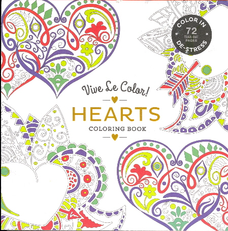 Hearts: Vive Le Color! Adult Coloring Book