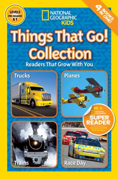 Things That Go! Collection: Readers That Grow with You (National Geographic Kids Reader, Levels Pre-Reader & 1)