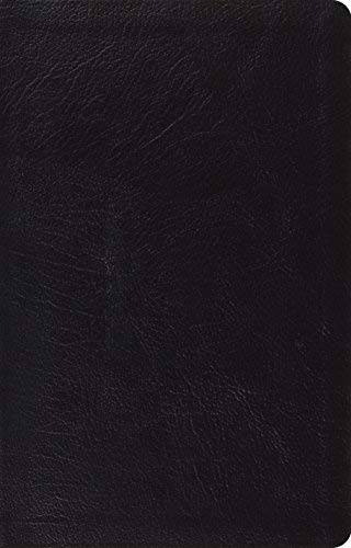 ESV Large Print Thinline Reference Bible (Black Genuine Leather)