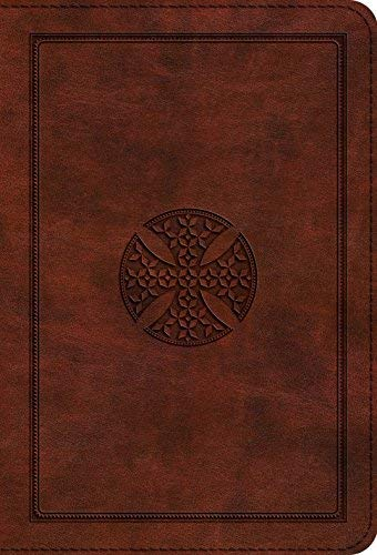 ESV Large Print Compact Bible (TruTone Brown, Mosaic Cross Design)