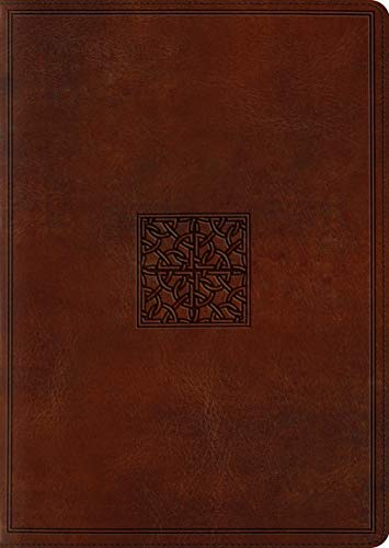 ESV Study Bible (Large Print, TruTone Walnut, Celtic Imprint Design)