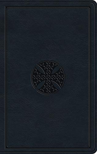 ESV Large Print Value Thinline Bible (TruTone, Navy, Mosaic Cross Design)
