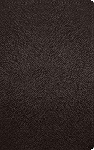 ESV Thinline Bible (Deep Brown, Buffalo Leather)