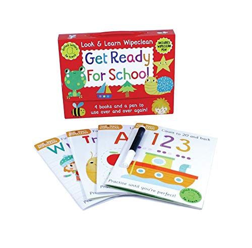 Get Ready for School: Four Books and a Pen to Use Over & Over Again! (Look & Learn Wipe-Clean Books)