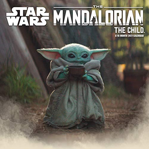 Star Wars Mandalorian 2021 The Child Wall Calendar