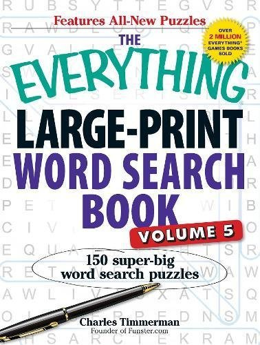Large-Print Word Search Book, Volume 5 (The Everything)