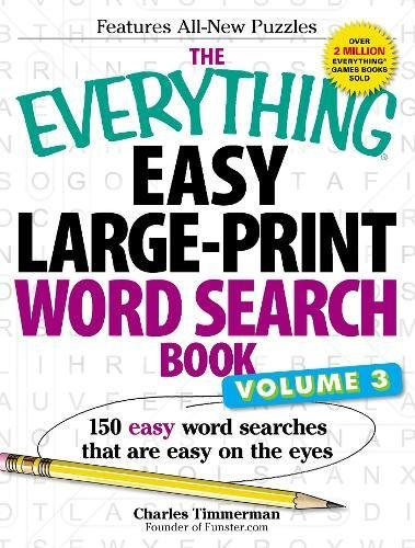 Easy Large-Print Word Search Book, Volume 3 (The Everything)