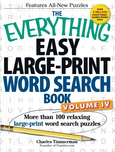 Easy Large-Print Word Search Book, Volume 4 (The Everything)