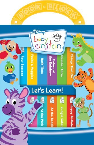 Baby Einstein Book Block (12 Board Books with Carry Handle)