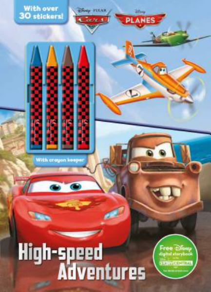 High-Speed Adventures Coloring with Crayons (Disney Cars & Planes)