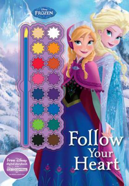 Follow Your Heart Paint Palette Book (Disney Frozen)