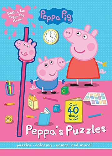 Peppa's Puzzles With Peppa Pig Straw