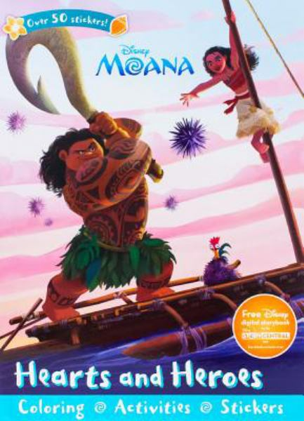 Hearts and Heroes Coloring and Activity Book (Disney Moana)