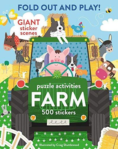 Fold Out and Play Farm Puzzle Activities