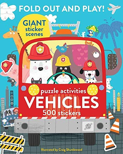 Fold Out and Play Vehicles Puzzle Activities