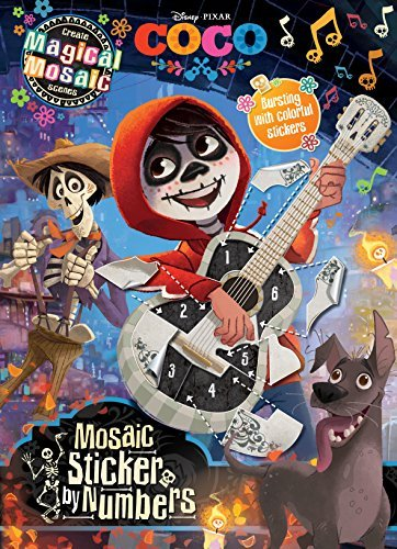 Mosaic Sticker by Numbers: Create Magical Mosaic Scenes (Disney Pixar Coco)