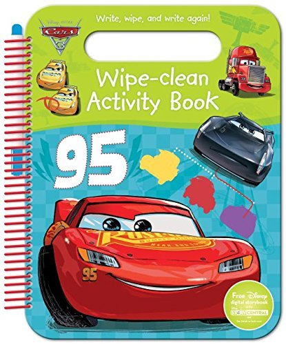 Disney Pixar Cars 3 Wipe-Clean Activity Book