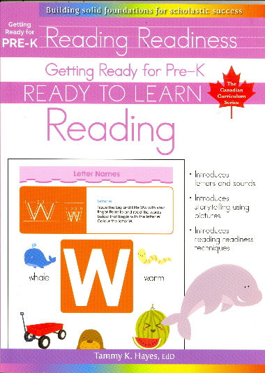 Reading Readiness: Read to Learn Reading (Getting Ready for Pre-K)